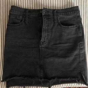 Madewell Gray Black Denim Skirt size 27